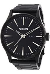Nixon Sentry SS All Black Stainless Steel Male Watch A356-001