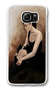 Black Ballet Polycarbonate Hard Case Cover for Samsung S6/Samsung Galaxy S6 Transparent