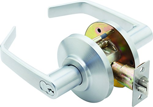 Stanley Best 7KC 37 D 15D S3 626 7-Pin Contour Angle Return Medium Duty Lockset, Storeroom, Satin Chrome, 2'' by Stanley Best