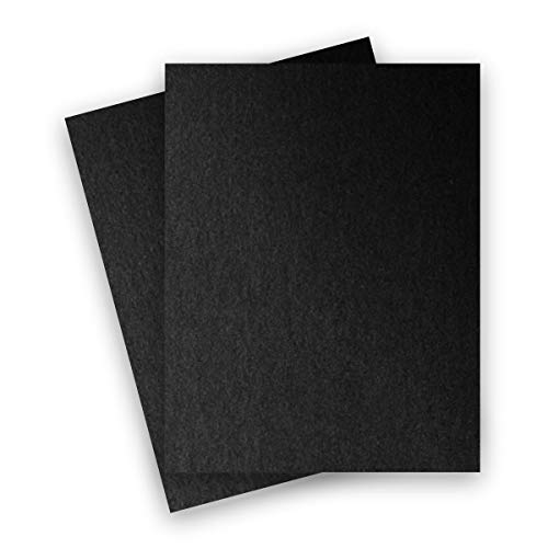 (Metallic Black Onyx 8-1/2-x-11 Lightweight Multi-use Paper 25-pk - PaperPapers 120 GSM (81lb Text) Letter size Everyday Metallic Paper - Professionals, Designers, Crafters and DIY, Black Paper )