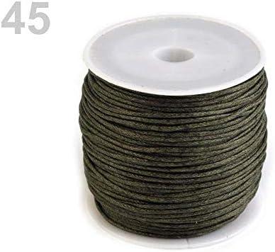 1pc 45 Verde Caqui de Algodón Encerado Cable de Ø 1 mm, Cuerda, Cuerdas Y Cadenas, artículos de Mercería: Amazon.es: Hogar