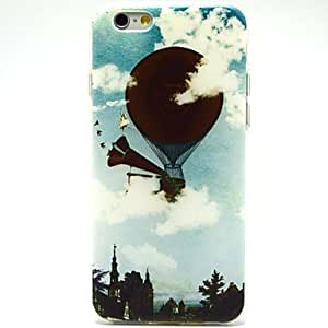 LCJ Black Fire Balloon Pattern Ultrathin TPU Soft Back Cover Case for iPhone 6