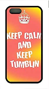 Keep Calm And Keep Tumblin Cover Case Skin for iPhone 5 5S Soft TPU Black