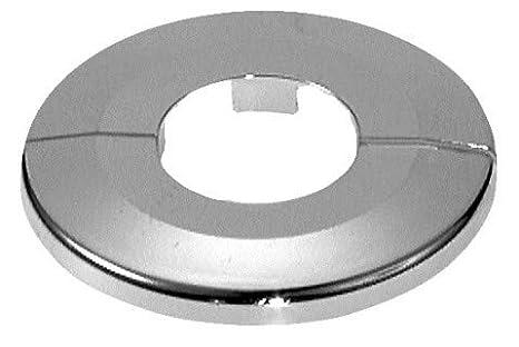 Einzel-Rosetten für Heizungsrohre, Außendurchmesser: 65mm, Heizung, 2 Stück, 10mm,12mm, 15mm, 16mm, 18mm, 22mm, 27mm, 34mm; ABS (34mm, verchromt) FUX