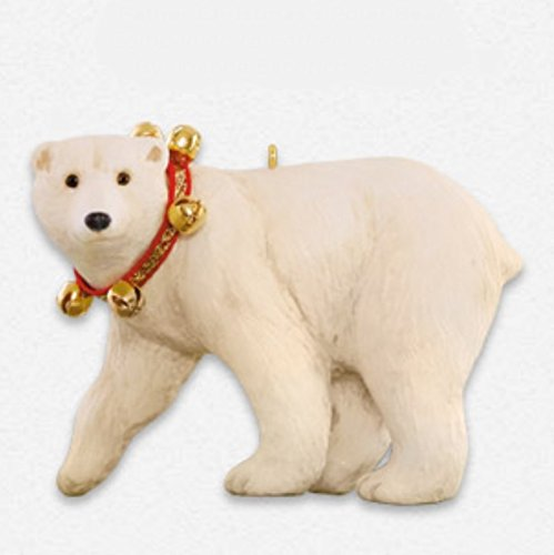 amazoncom father christmass polar bear ornament 2015 hallmark home kitchen