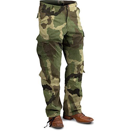 Woodland Camo, X-Large Vintage Paratrooper Fatigue Pants, (39