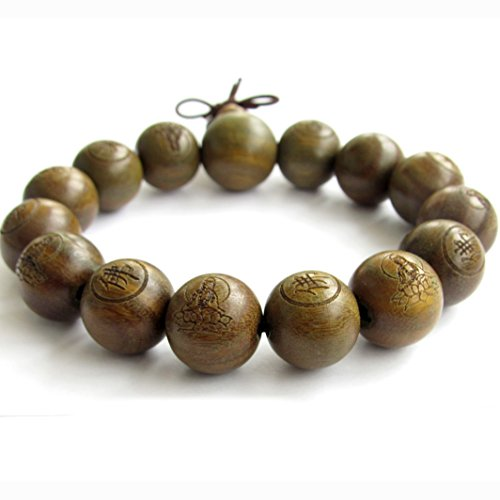 Tibetan buddhist green sandalwood beads prayer mala for Zen culture jewelry reviews