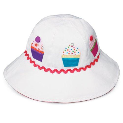 Wallaroo Hat Company Girl's Sophia Sun Hat - UPF 50+ - Crushable, White Cupcake]()