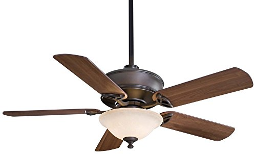 Cheap Minka Aire F620-ORB Bolo – 52″ Ceiling Fan with Light Kit, Oil Rubbed Bronze Finish with Medium Maple Blade Finish with Excavation Glass