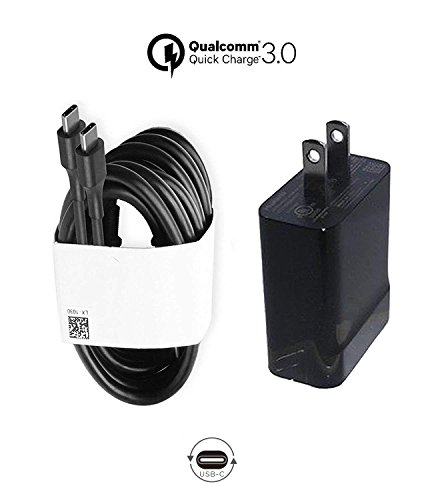 Huawei USB Type-C 5V 3A Adaptor and 4ft C-C Cable for Nexus 5, 5X, 6P Google Pixel 2/ Pixel/ Pixel XL Galaxy Note 8/ S8/ S8 Plus More