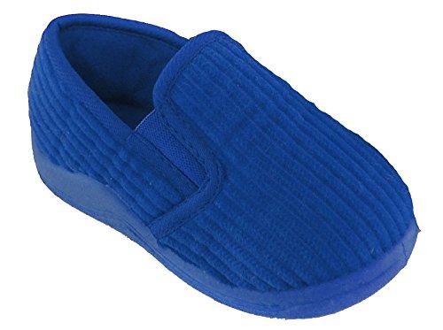 Kinder / Kleinkinder Schnur Hausschuhe Größen UK4 - UK10 Blau