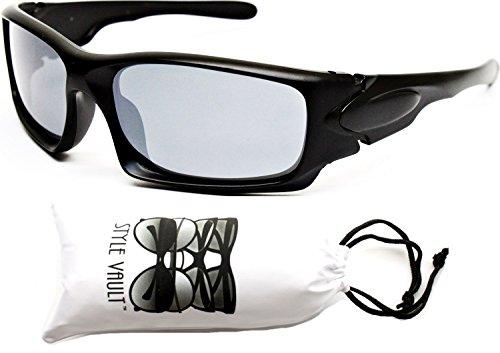 KD20-vp Kids childrens 1 ~ 7 year old boys girls Sports Sunglasses (596AM Black-Dark Silver Mirror, - Football Sunglasses