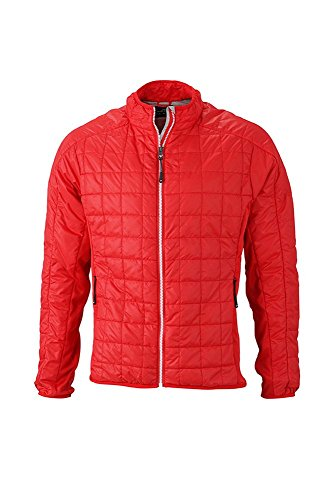 Light Di Hybrid Sportivi In Giacca Men's Materiali Con Mix Leggera red Jacket silver Imbottitura FzxqPwX