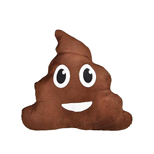 18'' Emoticon Poop Pillow by Bargain World