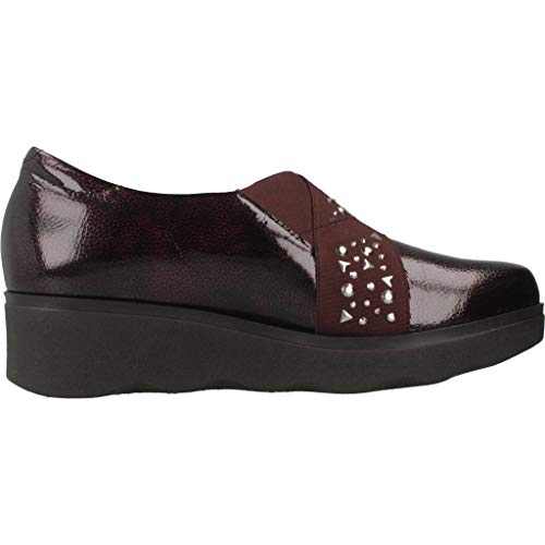 Mujer Rojo Zapatos Cordones Marca Color De Rojo Modelo Cordones Pitillos Mujer Zapatos Pitillos para para 5342P Rojo de x4nCzw1O