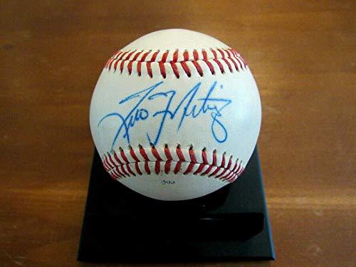 (Tino Martinez 4 X Wsc New York Yankees Signed Auto Game Used Ml Baseball - JSA Certified - MLB Game Used Baseballs)