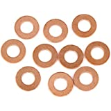 X AUTOHAUX Copper Washer Flat Sealing Gasket Ring Spacer for Car 8 x 16 x 1.5mm 10pcs