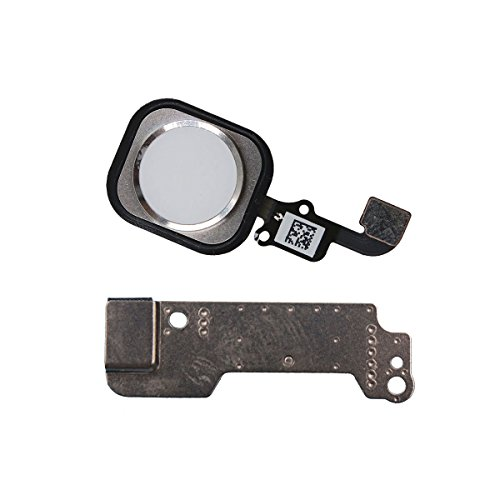 Iphone 6 6 Plus Home Button Replacement Touch Id Sensor Flex Cable Assembly With Rubber Ring Gasket Metal Bracket  Silver
