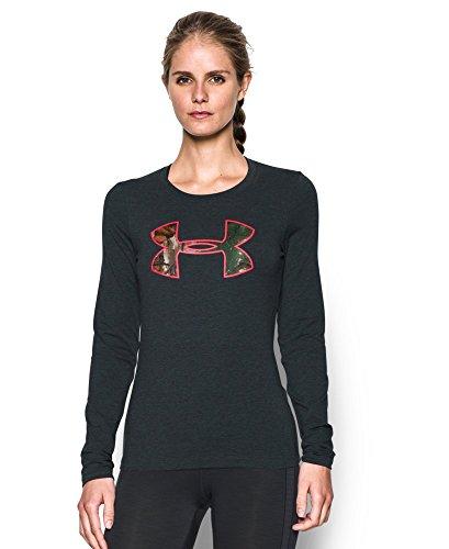 Under Armour Women's Camo Big Logo Long Sleeve T-Shirt, Anthracite (016), Medium