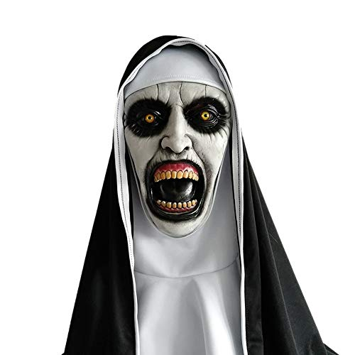 Halloween Purge Cosply Costume Scary The Town Nun Mask (Style -
