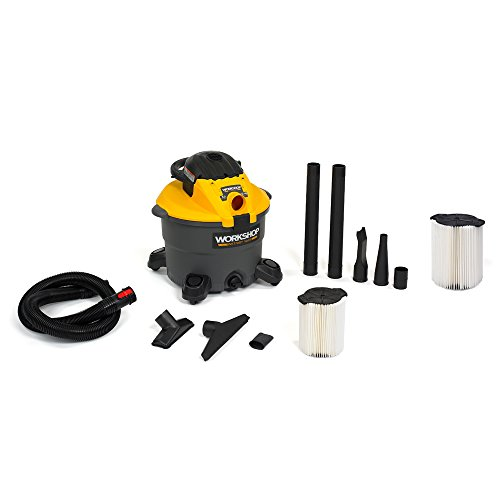 - WORKSHOP Wet/Dry Vacs WS1200DE Heavy Duty Wet Dry Shop Vacuum with Detachable Blower with Standard Filter for Shop Vacuum