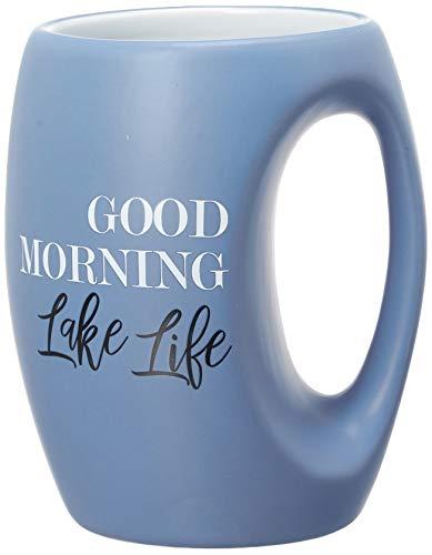 Pavilion Gift Company 10519 Blue Huggable Hand Warming 16 oz Coffee Cup Mug Good Morning Lake Life