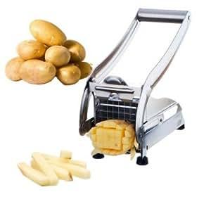 Stainless Steel Potato Cutter Maker Slicer Chopper Dicer +2 Blades