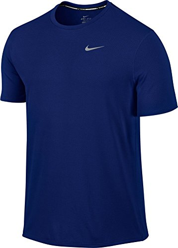 Nike Men's Dri-Fit Contour Short Sleeve - Large - Deep Royal Blue