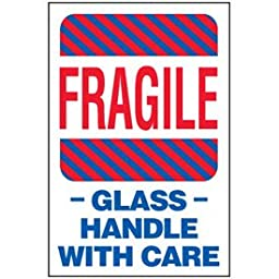 Paper Fragile Glass Package Handling Label - 6\