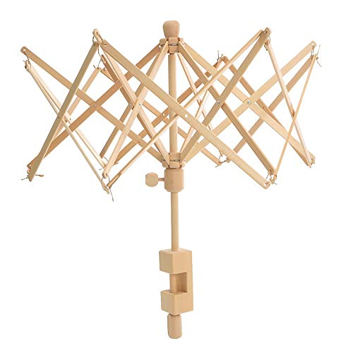 Souarts Wooden Umbrella Swift Yarn Winder - Knitting Umbrella 24