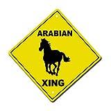 Arabian Crossing Horse Metal Aluminum Novelty Sign 12 in x 12 in