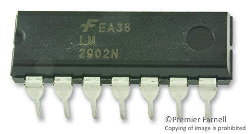 LM2902N - Operational Amplifier, Quad, 4 Amplifier, ? 1.5V to ? 13V, DIP, 14 Pins (Pack of 50) (LM2902N)