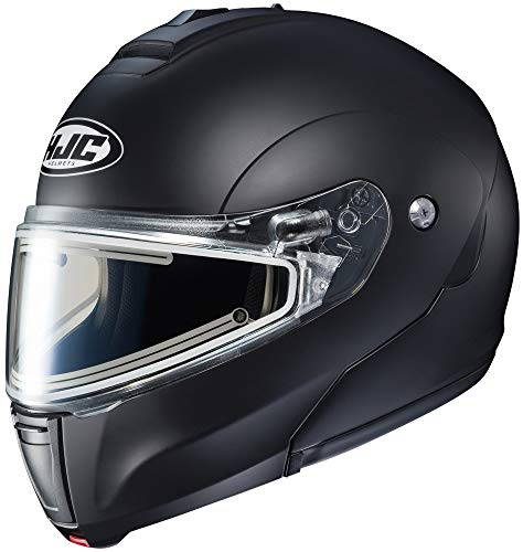 - HJC Helmets CL-Max 3 Men's Snowmobile Helmet With Electric Shield - Semi Flat Black/Large