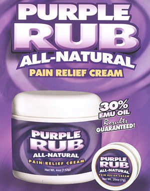 (Purple Emu Purple Rub All Natural Pain Relief Cream O.T.C. 30% Emu Oil 4oz. Jar )