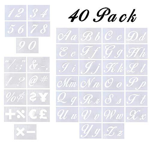 Letter Stencils - 40 Pack Alphabet Letter