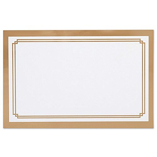 Metallic Gold Double Border Enclosure Cards / Gift Tags - 3 1/2 x 2 1/4 (50)