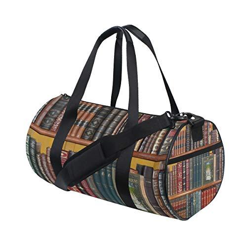 Duffel Bag Books Library Bookshelf Women Garment Gym Tote Bag Best Sports Bag for Boys