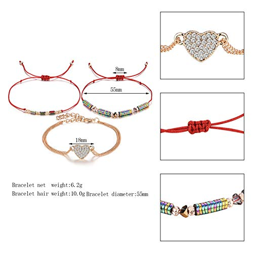 TIDOO Jewelry Womens Hand-Made Adjustable Woven Charm Bracelet Multilayer Tassels Beads Bracelet for Girls