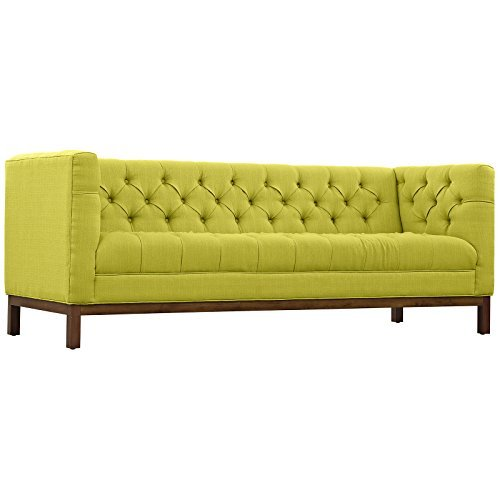 LexMod Panache Fabric Sofa, Wheatgrass
