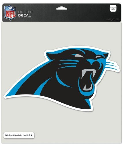 NFL Carolina Panthers Die-Cut Color Decal, 8