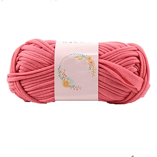 (T Shirt Yarn Shrimp Pink Tshirt Yarn for Crocheting 100g/0.22lb Hand Knitting Yarn Spaghetti Yarn Soft Bulk Yarn DIY Bag Blanket Cushion Crocheting Projects)