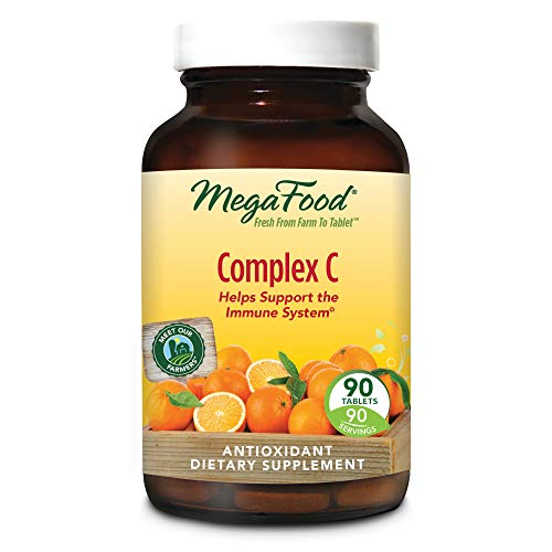 MegaFood - Complex C, Supports Immunity and Well-Being with Rosehips and Orange, Vegan, Gluten-Free, Non-GMO, 90 Tablets (FFP)