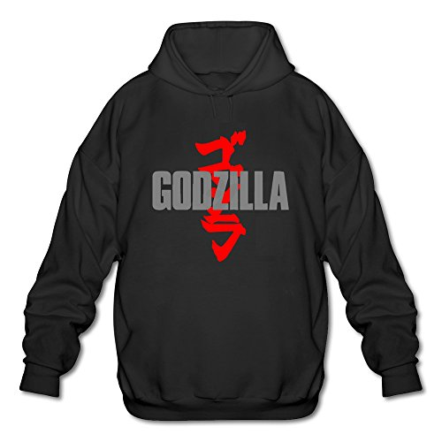AOPO Godzilla Men's Long Sleeve Hooded Sweatshirt / Hoodie Small Black