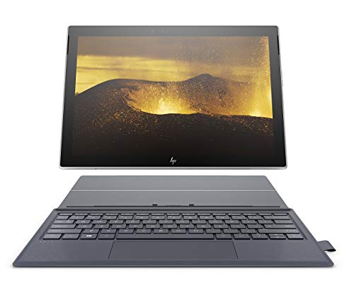 HP Envy x2 12-inch Detachable Laptop with 4G LTE, Qualcomm Snapdragon 835 Processor, 4 GB RAM, 128 GB Flash Storage, Windows 10 (12-e091ms, Silver, Blue) (Renewed) (Hp Tablet Lte)
