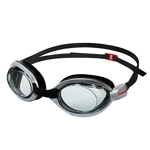 Optical Grade Goggles - KONA81 Barracuda Optical Swim Goggle K514, Designed for Triathlon, Anti-Fog, UV Protection, Silicone, No Leaking, Comfortable for Adults Men Women Unisex #51495 (-2.5)