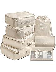 BAIGM Multifunctionele koffer-organizer, 7-delige waterdichte organizer, tas, reizen, kledingtassen, kleding, cosmetica, schoenentas voor vakantie, reizen