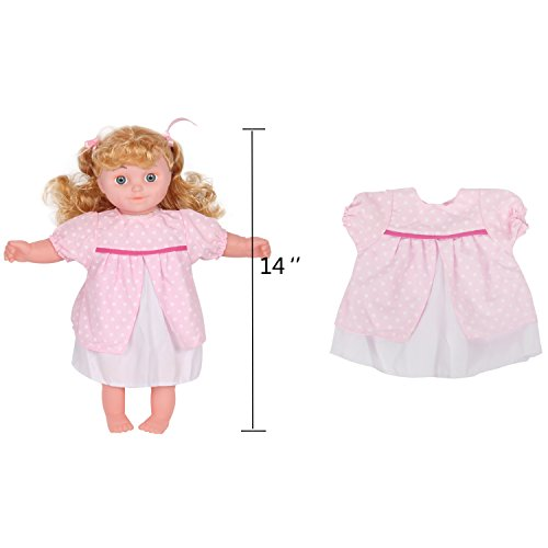 c9c2bd17dcd73 Huang Cheng Toys For 14-16 Inch Alive Baby Doll Handmade Lovely Dress  Barbie Clothes