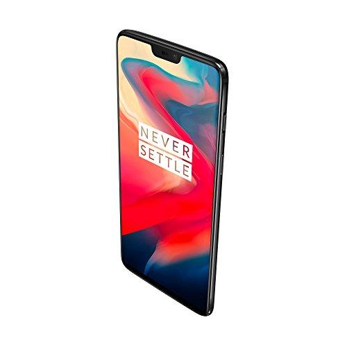 OnePlus 6 Smartphone 8GB RAM, 128 GB Memoria (non espandibile), OxygenOS basato su Android Oreo, Camera Doppia (16 + 20 MPx), Dual SIM, Nero (Midnight Black)