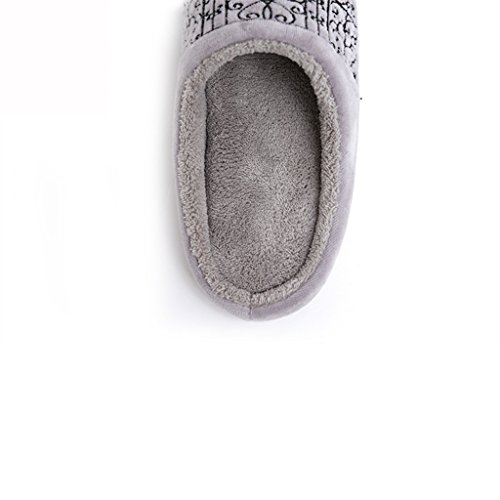 Femmina Caldo Coralli 2 Ricamato Pattern Casa Muto Scarpe Invernale Cotone Pantofole pwxCEqAI