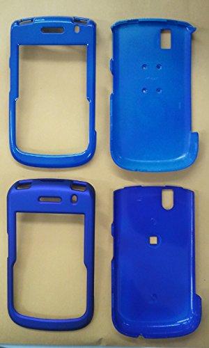Blackberry Tour (BB 9630) Snap Case Phone Cover 2 in 1 Bundle Blue